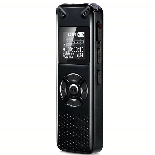 V91 Vandlion Professionele Voice Activated Digital Audio Voice Recorder 16 Gb 32 Gb Opname Dictafoon Wav MP3 Speler