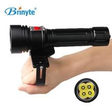 Brinyte DIV15 Alta Potencia CREE XM-L2 LED Linterna de Buceo Antorcha Aventura Bajo El Agua 200 m Impermeable Recargable Linterna de Buceo
