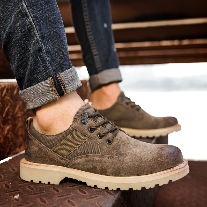 Genuine Leather Men Casual Shoes Oxford Sneakers Mans Footwear Vintage Zapatos Hombre Spring Flat Lace-Up Male Work Shoes AET622