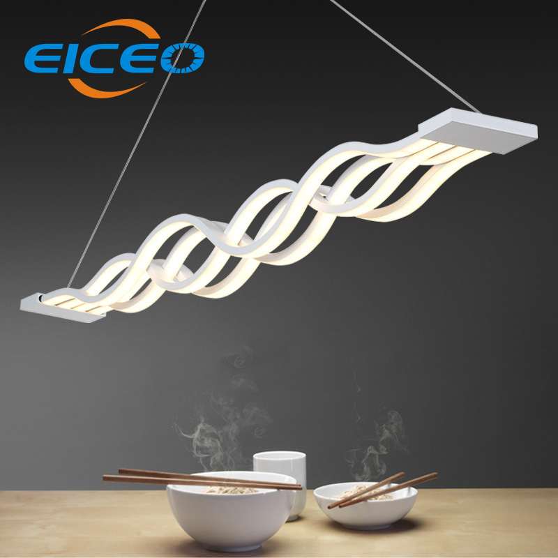 (EICEO) Hotel Cafe LED Chandelier Living Room Bedroom Lighting Atmosphere Creative Triangle Lights Pendant Lamp 100cm eiceo european style living room lamps bedroom lights atmosphere restaurant lighting chandelier led pendant lamp light