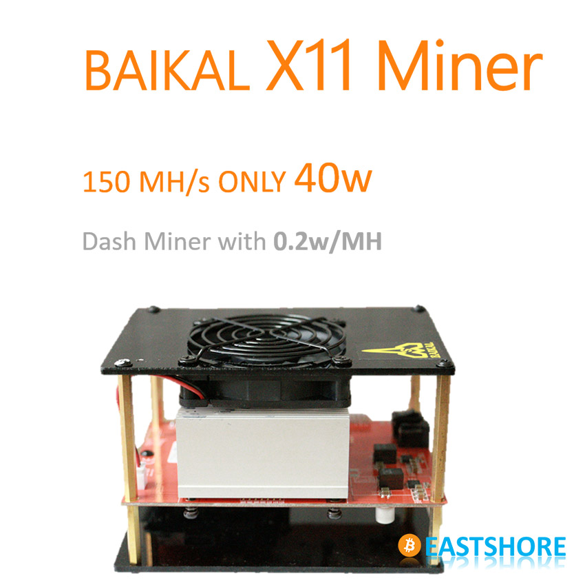 [SOLD OUT] X11 Miner 150MH Baikal ASIC X11 Dash Miner 150MH With Only 335W