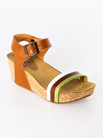 Wedge sandals colorful