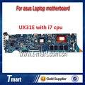 100% motherboard laptop trabalhando para asus ux31e sistema mainboard com i7 cpu a bordo totalmente testado e qualidade perfeita