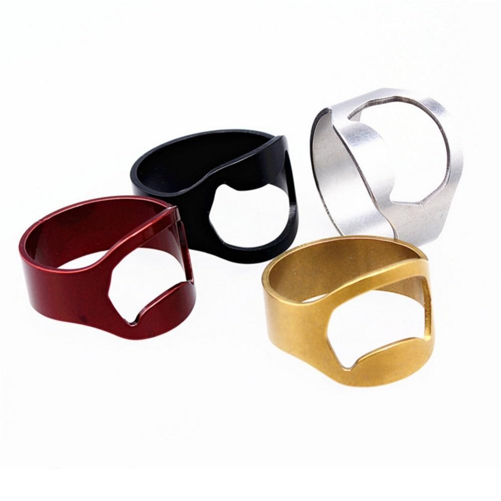 22mm Creative Versatile Stainless Steel Metal Finger Ring Ring-Shape Beer Bottle Opener Bar Tools