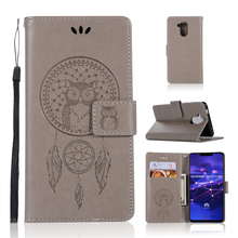 For Cover Huawei Mate 20 Lite Case Owl Flip Leather for Wallet Phone Bag