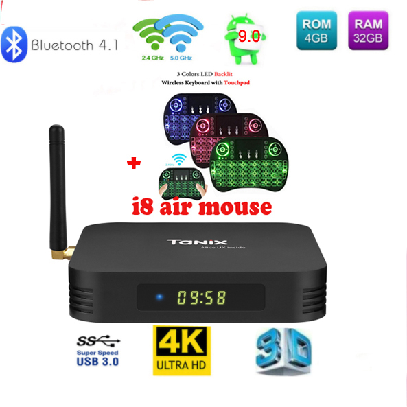 Tanix TX6 TV Box Allwinner H6 4 GB DDR3 32 GB EMMC 2,4 GHz 5 GHz WiFi BT4.1 Unterstützung 4 K H.265 Bluetooth 4,0 WIFI Android 9 TV BOX