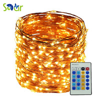 5M 10M 20M 30M 50M Remote Warm White Led Copper String 5V 12V LED Wire Light