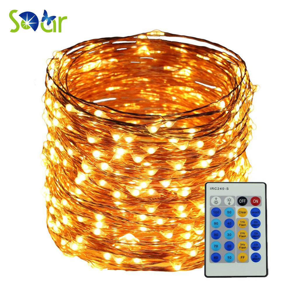 5M 10M 20M 30M 50M Remote Warm White Led copper string 5V 12V LED - Holiday Lighting