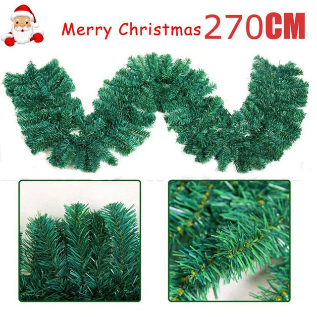 Us 15 07 42 Off 2 7m 160 180 Branches Luxury Christmas Decorations Mantel Fireplace Christmas Garland Pine Tree Rattan Xmas Tree Ornaments M In