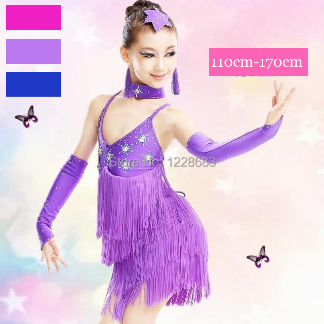 e2a6a442ff Latin Dance Dress For Women Girls Fringe Stage Performance Competition  Ballroom Tango Lumba Samba Salsa Dance