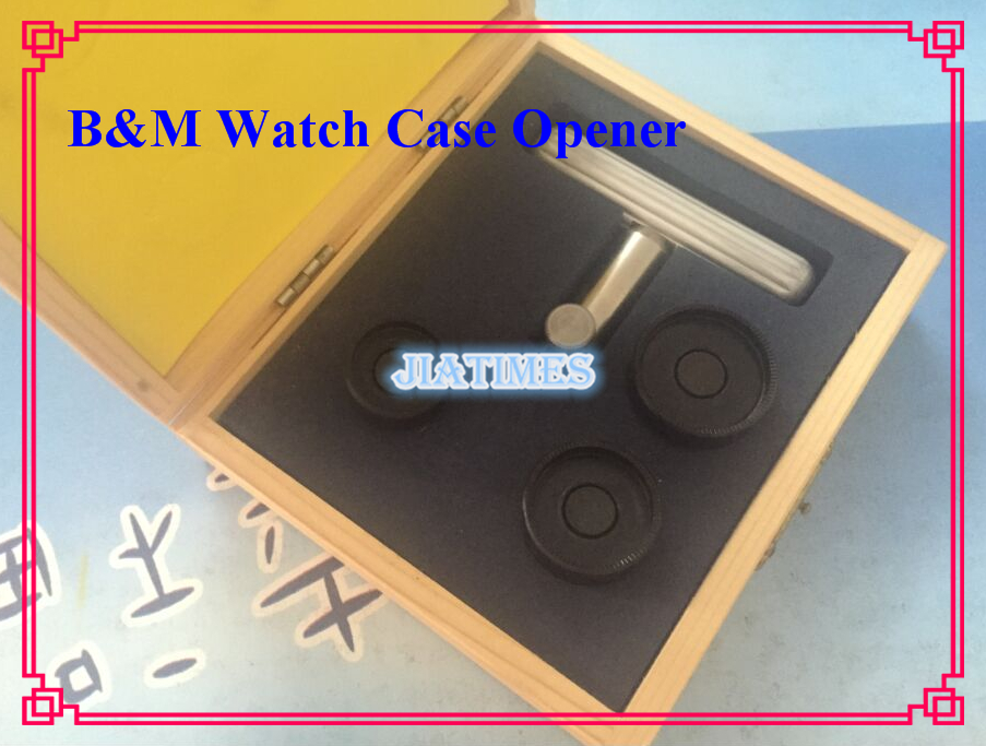 B M Watch Case Opener Set 3 Dies 25mm 30mm 32mm 1pc Die Holder Open for