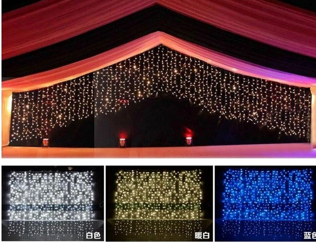 M m leds illuminazione di festa strings natale tenda
