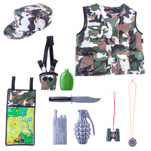Children Pretend Play Toys Camouflage Clothing Role Play Fancy Dress Costume Set Pretend Play Toy Set  For Children Boys Toys