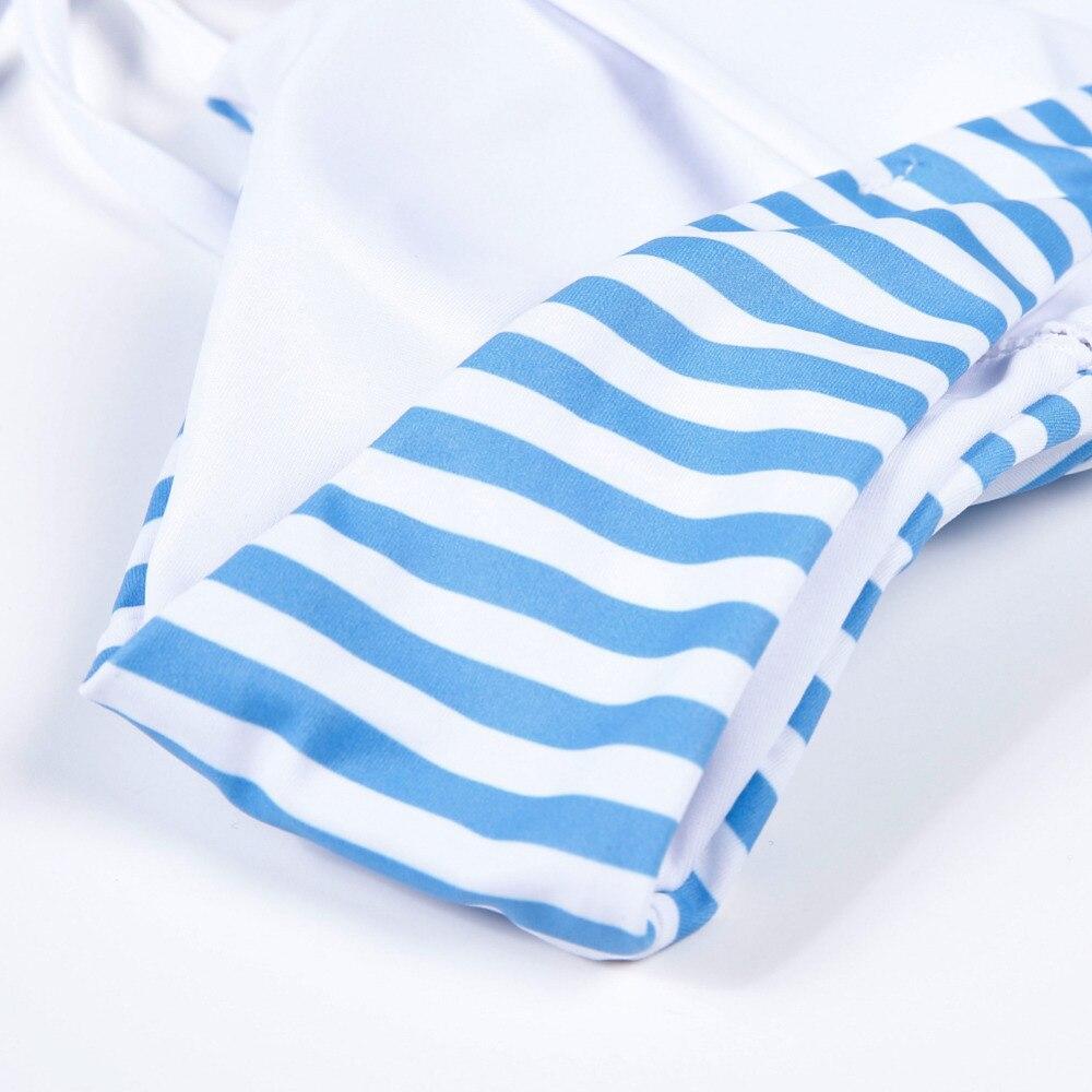 2019 Blue Stripe Bikini Split Sexy Cute Bikini two pieces swimsuit Beach Swimwear Women Bikini Set Bathing Suit swim biquini 6