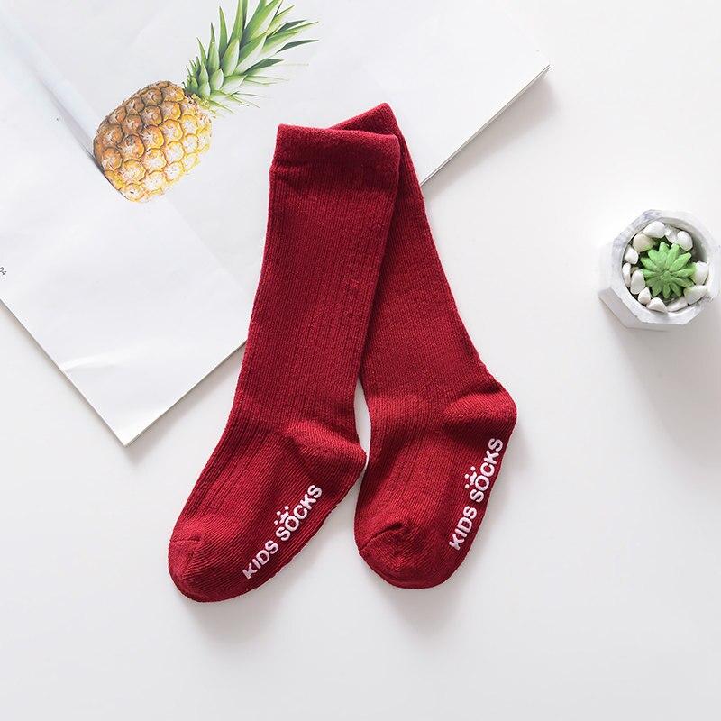 Новые детские носки гольфы с большим бантом для маленьких девочек, мягкие хлопковые кружевные детские носки kniekousen meisje, Прямая поставка#30 - Цвет: Flat mouth red
