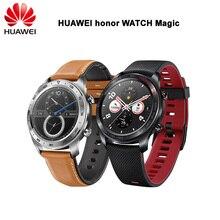 """Estoque! Huawei Honra Relógio Mágico Relógio Inteligente Esporte Sono Correr Ciclismo Natação montanha GPS 1.2 """"AMOLED Tela Colorida de 390*390 Relógio"""
