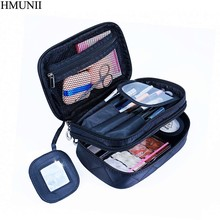 HMUNII Lady Organizer Makeup Bag Travel Organizer Cosmetic Bag for Women Large Necessaries Make Up Case Wash Toiletry Bag B1-11