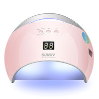 SUN6 48W Nail Dryer Auto Sensor Portable UV Lamp For Drying Low Heat Model Double Power Fast Manicure Nail Led Lamp