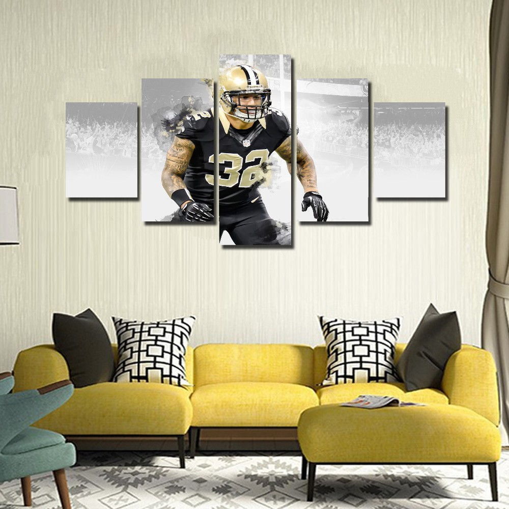 Aliexpress 5 Panel New Orleans Saints Player 32 Kenny Vaccaro Modern Home Wall Decor Canvas Picture Art Hd Print Painting On Artwork From