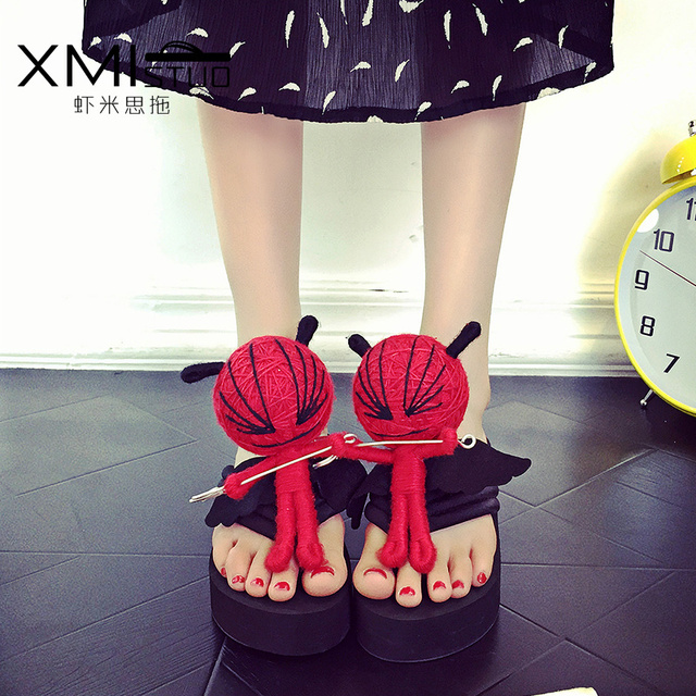 XMISTUO Height 6cm trend of the high-heeled with the vintage models of high-heeled female high-heeled female slope with slippers