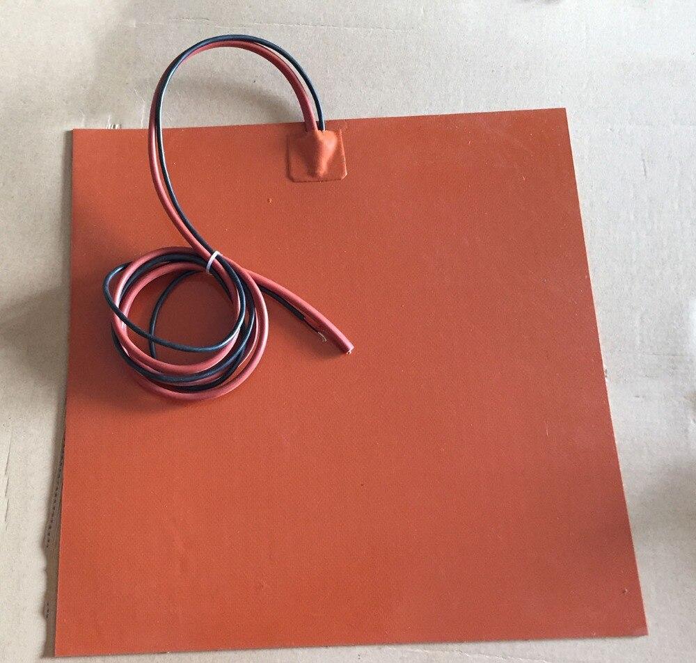 Chauffage flexible pad de silicone riscaldatore con 3 m adesivo NTC 100 k termistore flxible chauffage plaque chauffante 24 v 190 w 225 x 225mm,