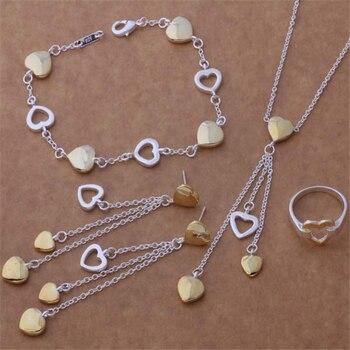 7c25beb49549 AS282 caliente Chapado en plata bien conjuntos de joyas venta al por mayor 925  envío gratis pulsera de 112 + 607 collar + pendientes 295 + 231