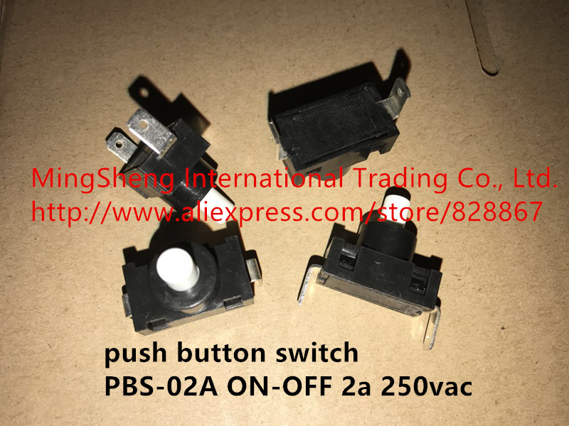 Original new 100% push button switch PBS-02A ON-OFF 2a 250vac