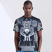 2017ss Graphic Tees Men hiphop hip-hop clothing T Shirts 3D Sublimation print Cotton T-shirt Custom Made Clothing Good quality
