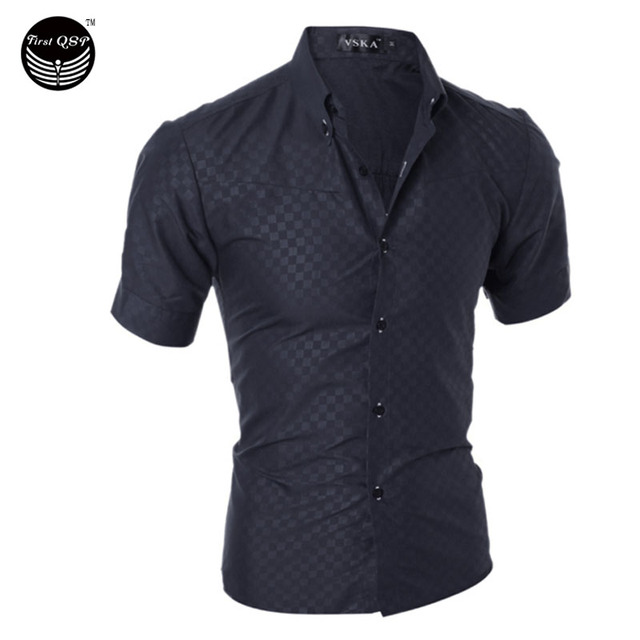 Homens Camisa 2017 Da Marca de Moda Homens Camisa Xadrez Masculina Camisa de Manga Curta-Shirt Camisa Masculina Fit Casual Masculino Magro Camisas XXL MIYH