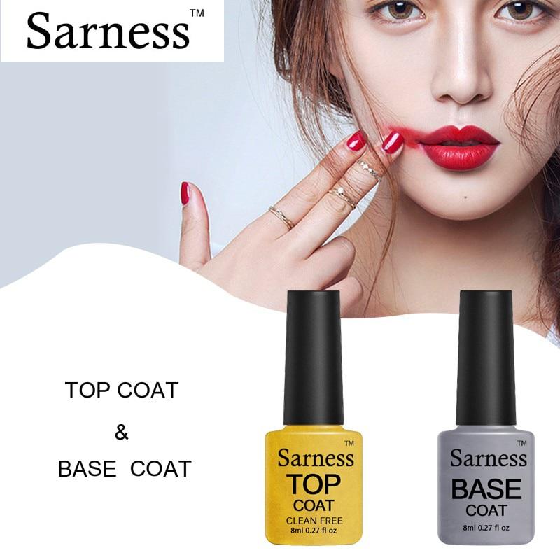 Sarness Top Base UV Gel Nail Polish Foundation Varnish