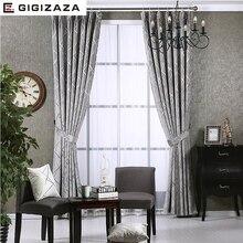 Newchenille Blinds Jacquard Fabric font b Curtain b font for Livingroom Silver GIGIZAZA Black Out Custom