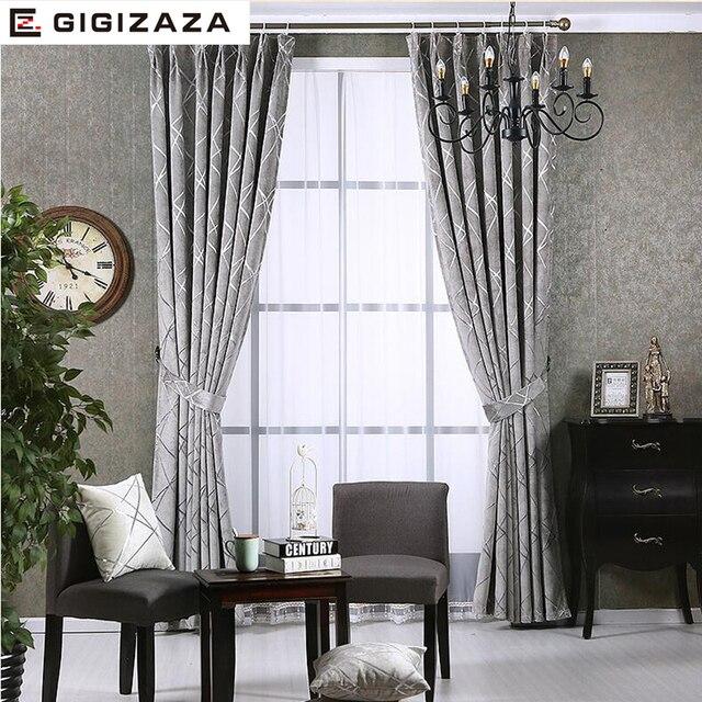 Newchenille Jalousien Jacquard Stoff Vorhang für Wohnzimmer Silber ...