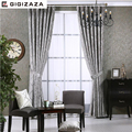 Newchenille blinds jacquard fabric curtain for livingroom silver GIGIZAZA black out custom size shade american style for bedroom