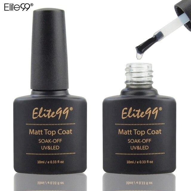 Elite99 10 ml Matt Lack Matte Top Mantel Nagel Gel Polish Nail art Finish Top Mantel Gel Nagel Matt Top gel Mit Nagel Kunst Aufkleber