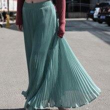 Chiffon Vogue Green High Waist Party Wear Maxi Female Skirts New Style Womens Hot Sale Ladies Long Summer Skirt