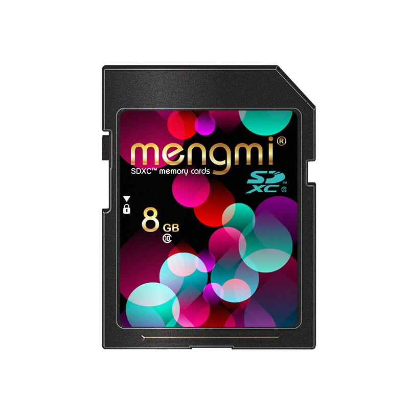 Mengmi SD Card 8GB memory card Class10 SDHC HD video cartao de memoria carte sd tarjeta For Camera