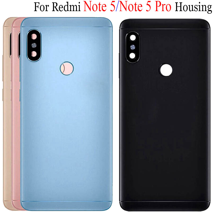 Original Housing For Xiaomi <font><b>Redmi</b></font> <font><b>Note</b></font> <font><b>5</b></font> <font><b>Pro</b></font> Note5 Metal <font><b>Battery</b></font> Back <font><b>Cover</b></font> Replacement Parts Case With Lens Buttons ans Tools image