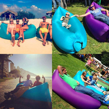 Inflatable Home Outdoor Air Sleep Sofa Couch Portable Furniture Sleeping Bed Lounger Polyester Summer Camping Beach Dream Chair