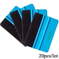 20pcs Auto Felt Squeegee Household Cleaning Scraper Vinyl Cleaner Carbon Fiber Car Foil Vinyl Film Wrap Window Tints Tools 20A02