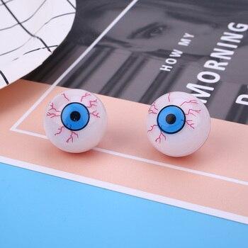 White Halloween Fake Eye Ball Scary Horror Cosplay Prop Party Decor Haunted ropa interior de encaje negra