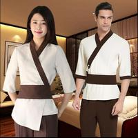 Woman Sauna Suit Short Sleeves Salon Uniform Foot Technician Uniforms SPA Health Museum