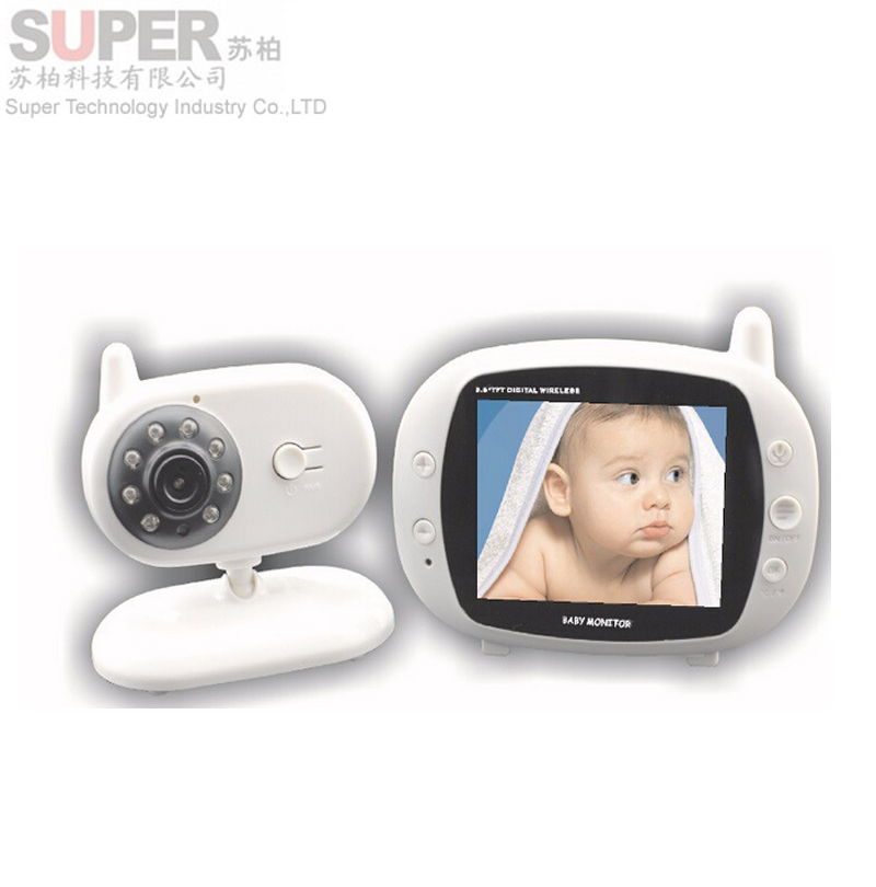 3 5 wireless audio video baby monitor security camera 2 way talk nigh vi. Black Bedroom Furniture Sets. Home Design Ideas