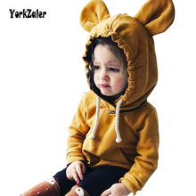 Yorkzaler Kids Shirt Toddler Boy Sweatshirt Bear Ears Hooded Shirt For Girls Kids Spring Autumn New Blouses Sweater Size 18M-5T