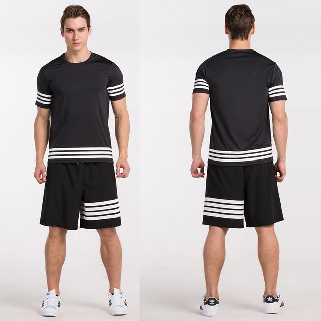 Men Shirt Running Run Fitness Exercise Training Sports Gym Soccer Basketball Outdoor Climbing Football Top Shirts Jerseys