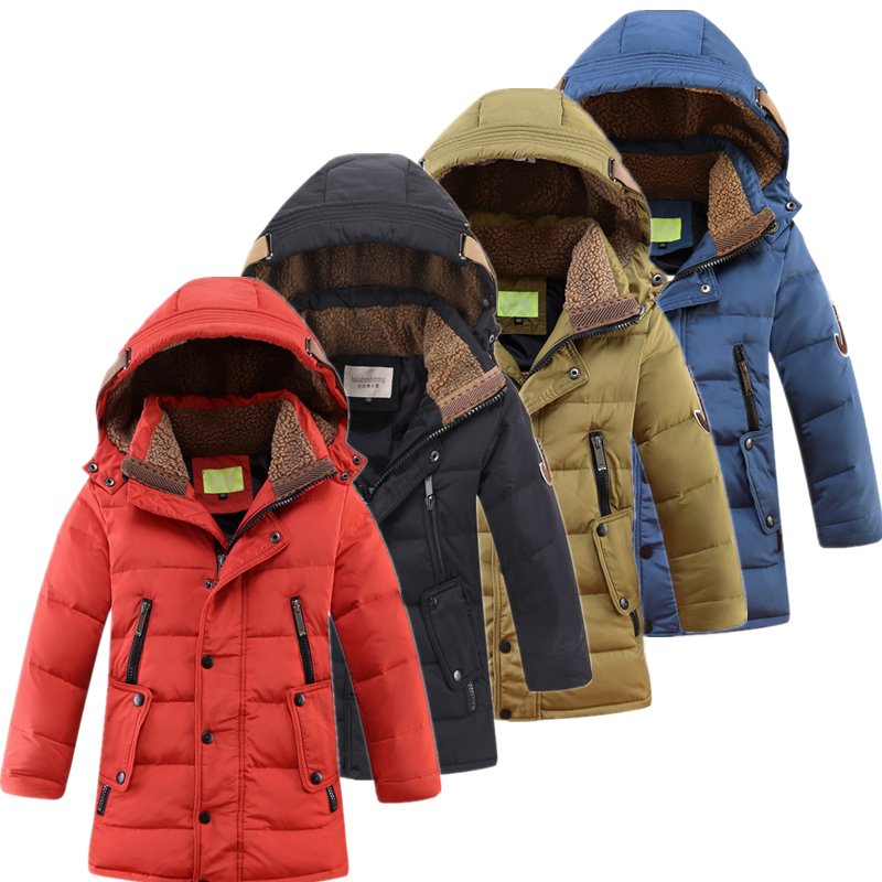 Winter Children Hooded Removable White Duck Down Coats Boys Outdoor Warm And Windproof Down Jacket Kids
