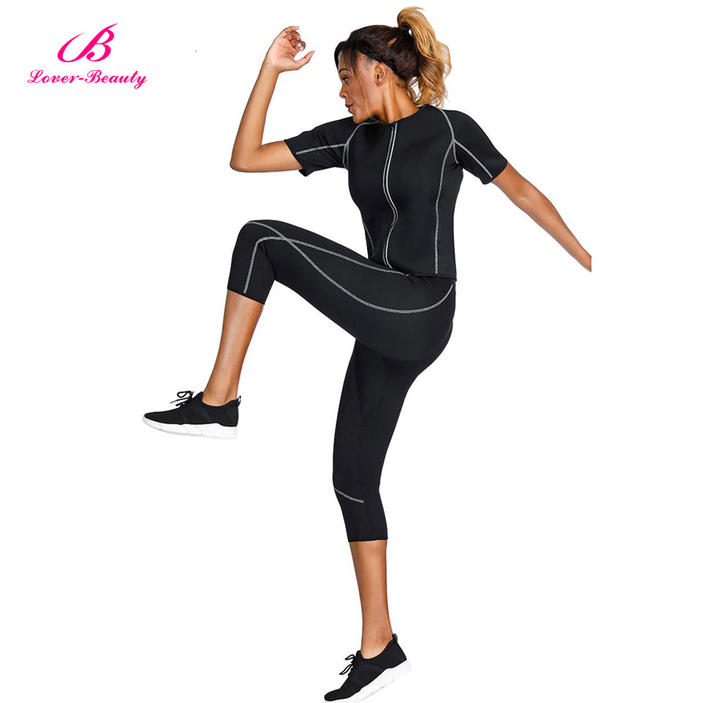 Slimming Sauna Body Suit Set for workout
