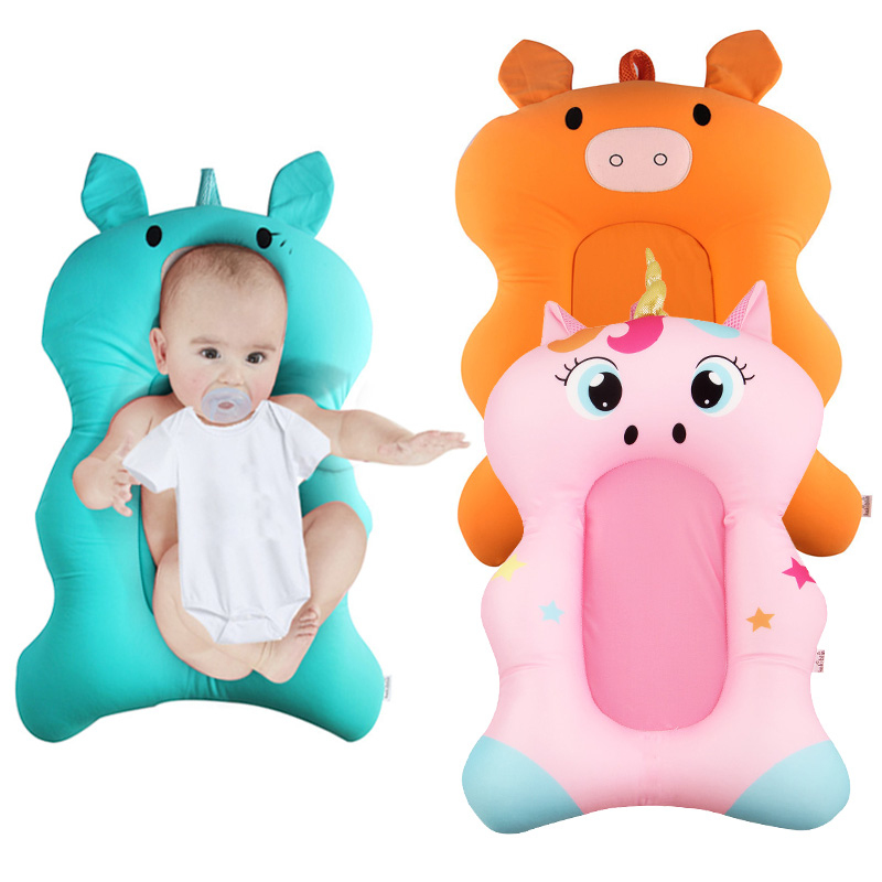 Animal Cartoon Printed Baby Bath Tub With Stretch Spandex Fabric For New born Baby