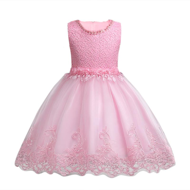 2018 Children Dress Evening New Year Costume for Girl Dresses Wedding Party White Lace Girl Clothing christmas girl in costume elsa dress dress up the new year children s dresses dress girl for 10 years wearing lace robe girl
