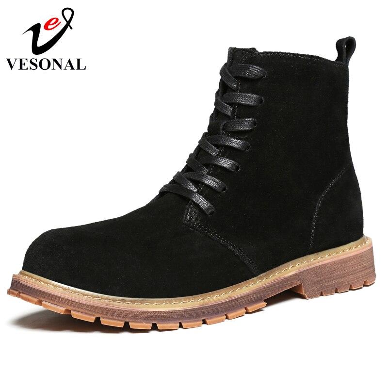 bfb9fb330f73d Zimowe brown Botki Boots Krowa Zamszu Buty Dla Dorosłych Futro Boots  Ocieplane Mody Black Vesonal Marki Pluszowe Obuwie Krótki Mężczyzn Męskie  qSVpMUz