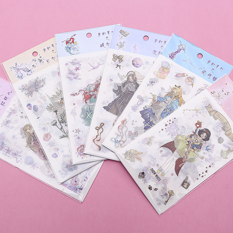 Creative And Lovely Princess Dream Series Sticker DIY Diary Album Diary Decorative Sticker Stationery